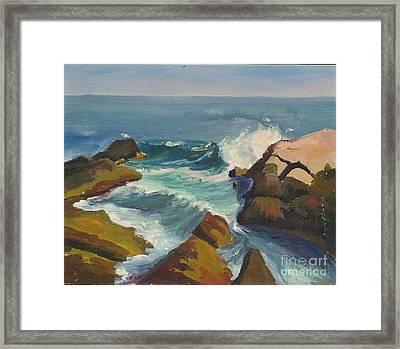 Seascape 3 Framed Print by Jeri Borst