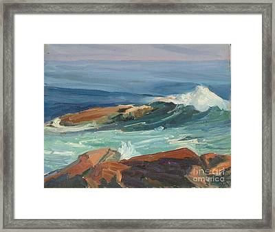 Seascape 4 Framed Print by Jeri Borst