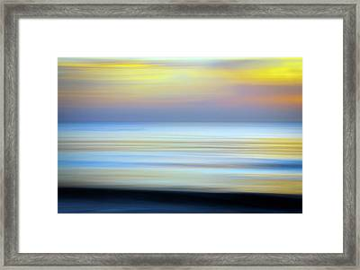 Seascape Abstract Framed Print