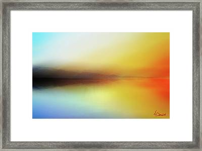 Seascape Framed Print by Ahmed Darwish