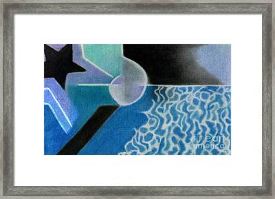 Seascape At Night Framed Print by Christine Perry