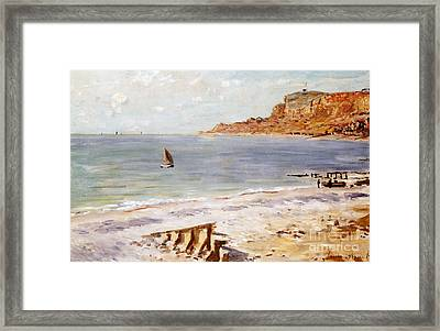 Seascape At Sainte Adresse  Framed Print