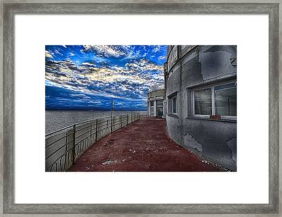 Seascape Atmosphere - Atmosfera Di Mare Framed Print by Enrico Pelos