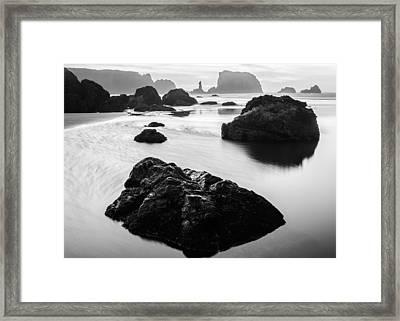 Seascape Bandon Oregon Framed Print