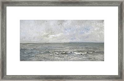 Seascape Framed Print by Charles-Francois Daubigny