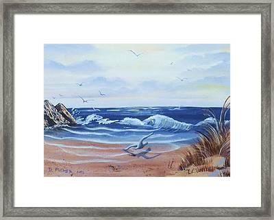 Seascape Framed Print by Denise Fulmer