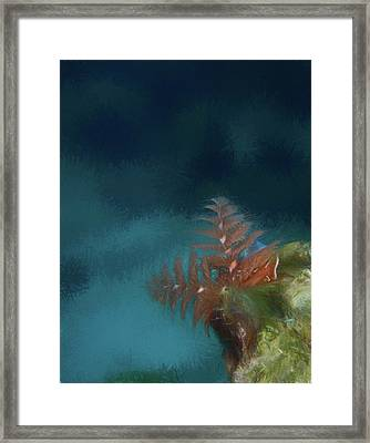 Seascape Drawing Framed Print by Jean Noren