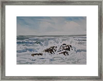 Seascape Ester Lee Framed Print by Lynne Haines