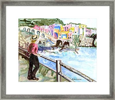 Seascape Framed Print by Harriet Davidsohn