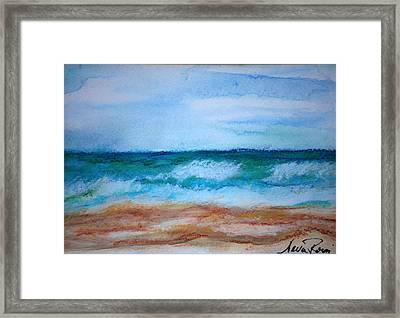 Seascape I Framed Print by Neva Rossi