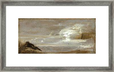 Seascape Jean-baptiste Carpeaux Framed Print by MotionAge Designs