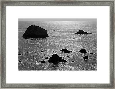 Framed Print featuring the photograph Seascape Jenner California II Bw by David Gordon