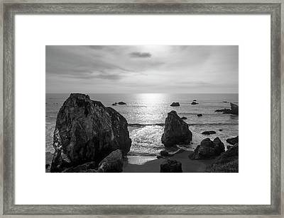 Seascape Jenner California IIi Bw Framed Print