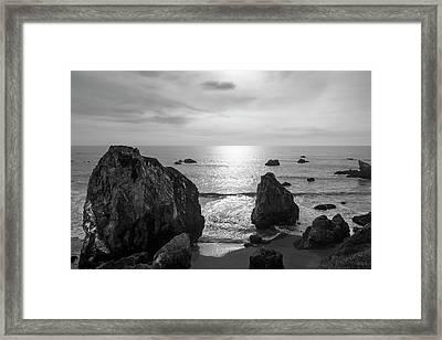 Seascape Jenner California IIi Bw Framed Print