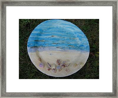 Seascape Framed Print by Julia Van Dine