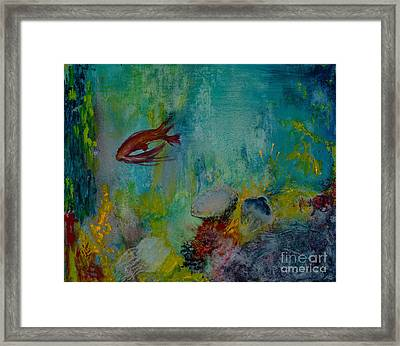 Framed Print featuring the painting Seascape by Karen Fleschler