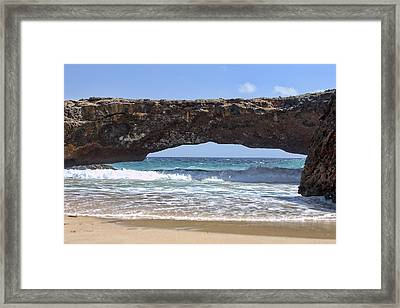 Seascape Land Bridge Framed Print