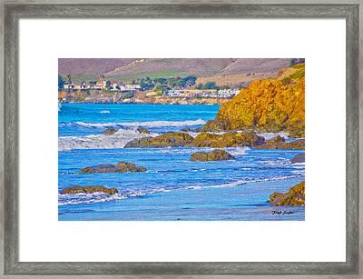 Seascape Landscape Cayucos California Framed Print by Floyd Snyder