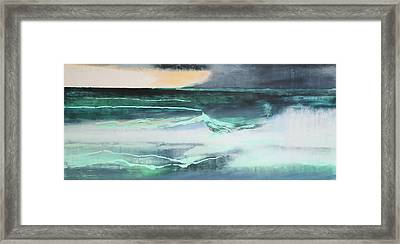 Seascape Framed Print by Lou Gibbs