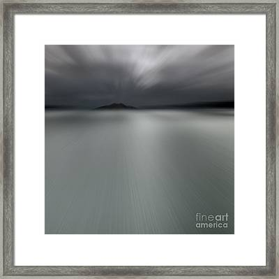 Framed Print featuring the photograph Seascape Mono by Craig B