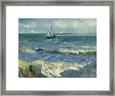 Seascape Near Les Saintes Maries De La Mer Framed Print
