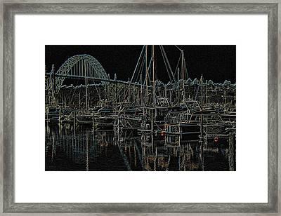 Neon Seascape Art Framed Print by Thom Zehrfeld