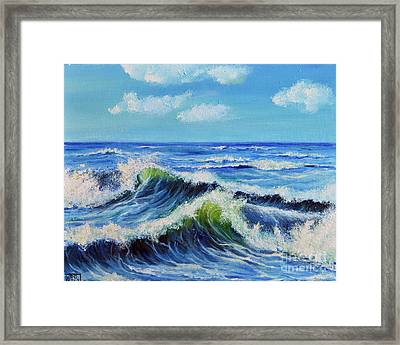 Seascape No.3 Framed Print by Teresa Wegrzyn