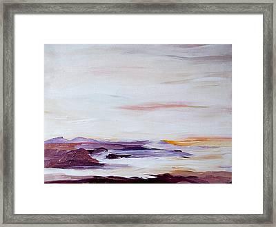 Seascape Nr 2 Framed Print by Carola Ann-Margret Forsberg