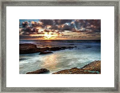 Seascape Paintings For Sale - Ocean Breath Framed Print by Frances Leigh