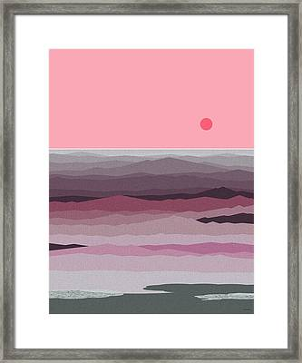 Seascape Pinks Framed Print by Val Arie