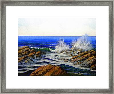Seascape Study 4 Framed Print by Frank Wilson