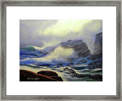 Seascape Study 8 Framed Print by Frank Wilson