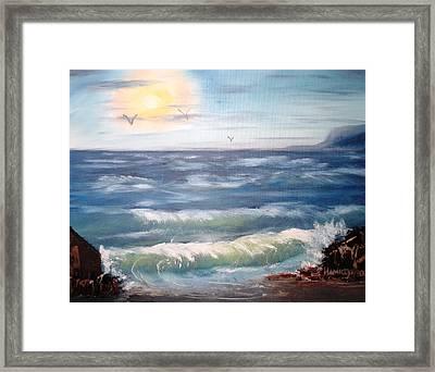 Seascape Study Framed Print