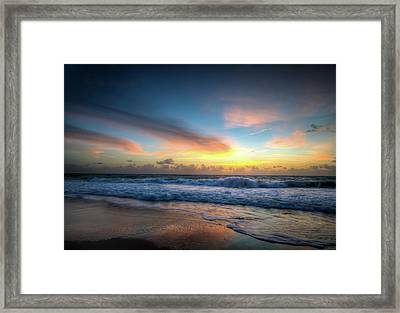 Seascape Sunrise Framed Print