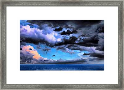 Seascape Framed Print by Theresa Campbell