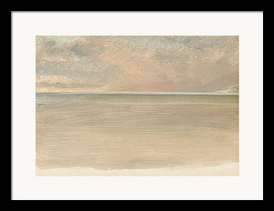Seascape With Clouds Framed Prints