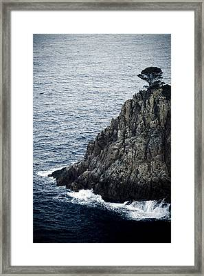 Seascape With Rocks Framed Print by Frank Tschakert