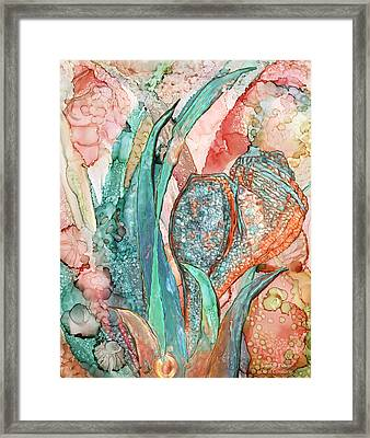Seashell Flower - Organica Framed Print by Carol Cavalaris