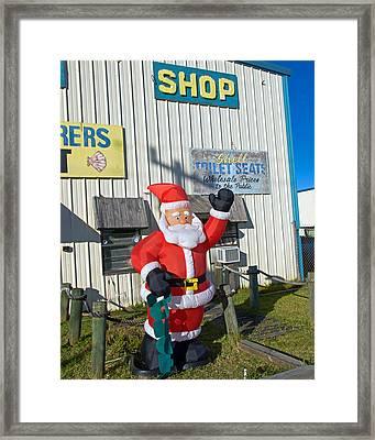 Seashell Seats For Christmas Framed Print by Allan  Hughes