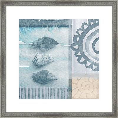Seashells 2 Framed Print by Linda Woods