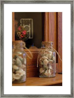 Framed Print featuring the photograph Seashells by Jeremy Lavender Photography