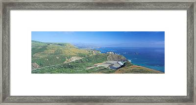 Seashore Along Highway 1, Mendocino Framed Print by Panoramic Images