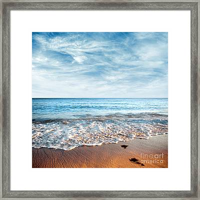 Seashore Framed Print by Carlos Caetano