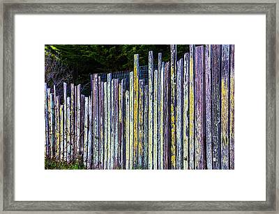 Seashore Fence Framed Print by Garry Gay