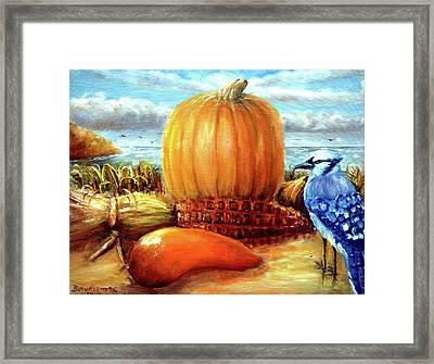 Seashore Pumpkin  Framed Print by Bernadette Krupa