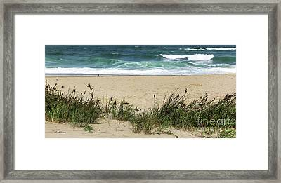 Framed Print featuring the photograph Seashore Retreat by Michelle Wiarda