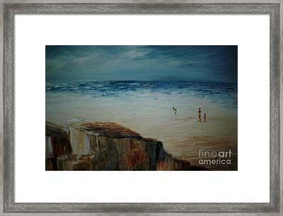 Seashore Framed Print by Vivian  Mosley