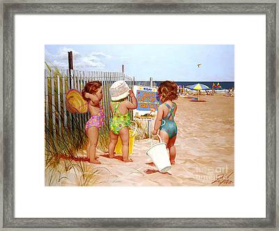 Seaside Adventures Framed Print by Donald Zolan