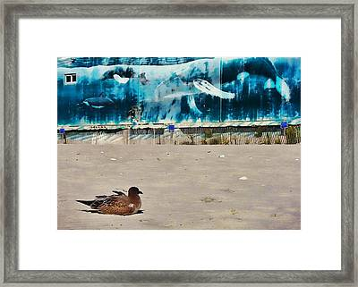 Seaside Art Gallery Framed Print by JAMART Photography