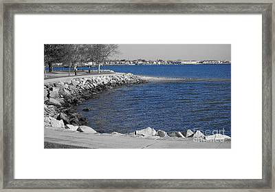 Seaside Blue Framed Print